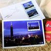 圖片 郵票磁鐵明信片組:台灣地標101&台灣景點阿里山